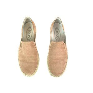 TOD'S Women's Size 7 Pink Suede Comfort Flats